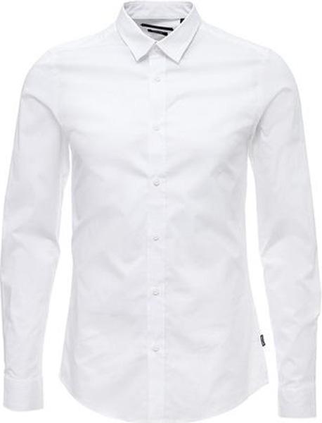 Рубашка мужская Only & Sons, цвет: белый. 22007080. Размер M (48)22007080
