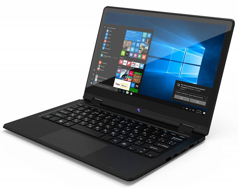 Digma CITI E220, Black (ES2006EW)ES2006EWDigma CITI E220 - современный и удобный ноутбук-трансформер с экраном 11.6, полной версией ОС Windows и универсальнымнабором портов, который с успехом может заменить ваш стационарный компьютер. 4-ядерный процессор Intel Atom Z8350 (частота до 1,92 ГГц) позволяет ноутбуку выполнять разнообразныезадачи без особых усилий. 4 ГБ оперативной памяти и 32 ГБ внутренней памяти помогают ноутбукуработать в режиме многозадачности. Digma CITI E220 не нуждается в переходниках: универсальный набор портов позволяет организовать мобильныйофис в считанные минуты. С помощью порта mini HDMI, полноразмерного USB 3.0 и USB 2.0 вы без проблемподключите большой экран, мышь, принтер или сканер.Точные характеристики зависят от модификации.Ноутбук сертифицирован EAC и имеет русифицированную клавиатуру и Руководство пользователя.