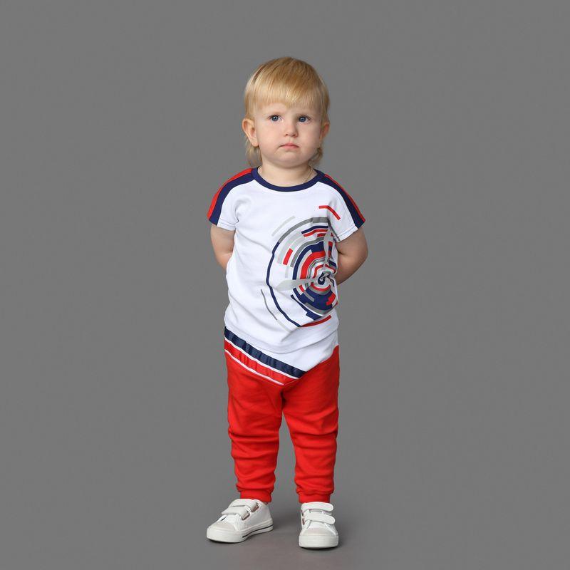 Штанишки Ёмаё, цвет: красный. 15-203. Размер 80 брюки джинсы и штанишки ёмаё ползунки для мальчика ватсон 26 290