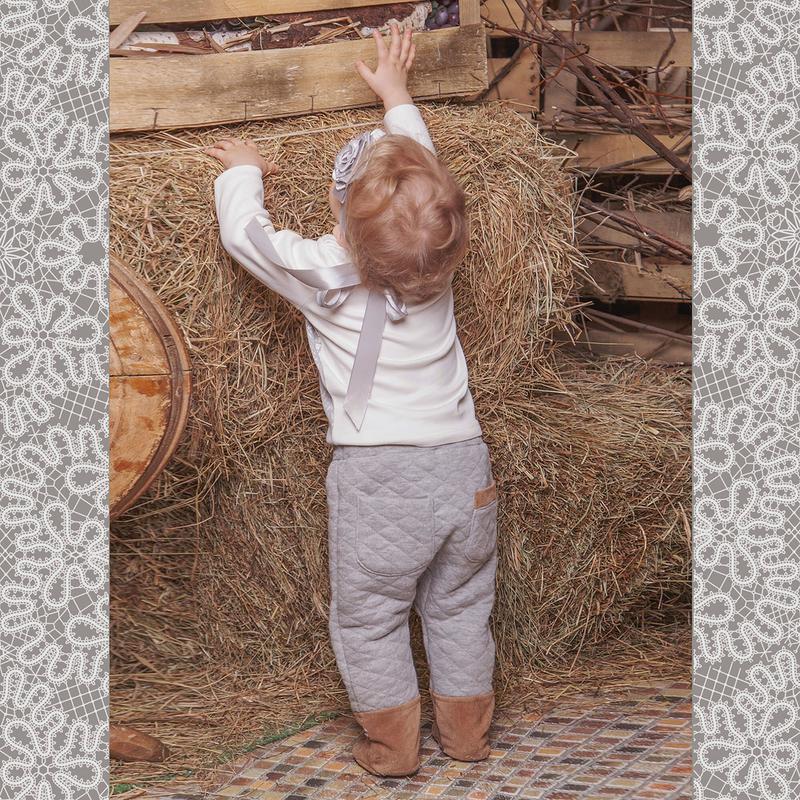 Ползунки Ёмаё, цвет: светло-серый. 15-805. Размер 80 брюки джинсы и штанишки ёмаё ползунки для мальчика ватсон 26 290