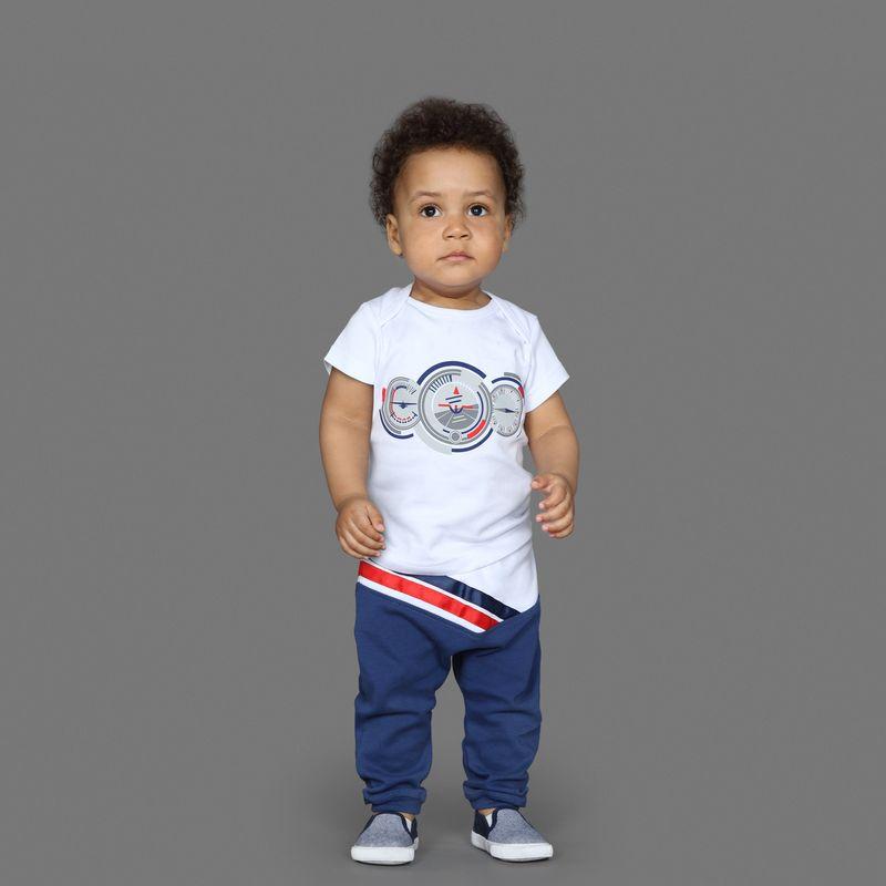 Штанишки Ёмаё, цвет: синий. 15-203. Размер 74 брюки джинсы и штанишки ёмаё ползунки для мальчика ватсон 26 290