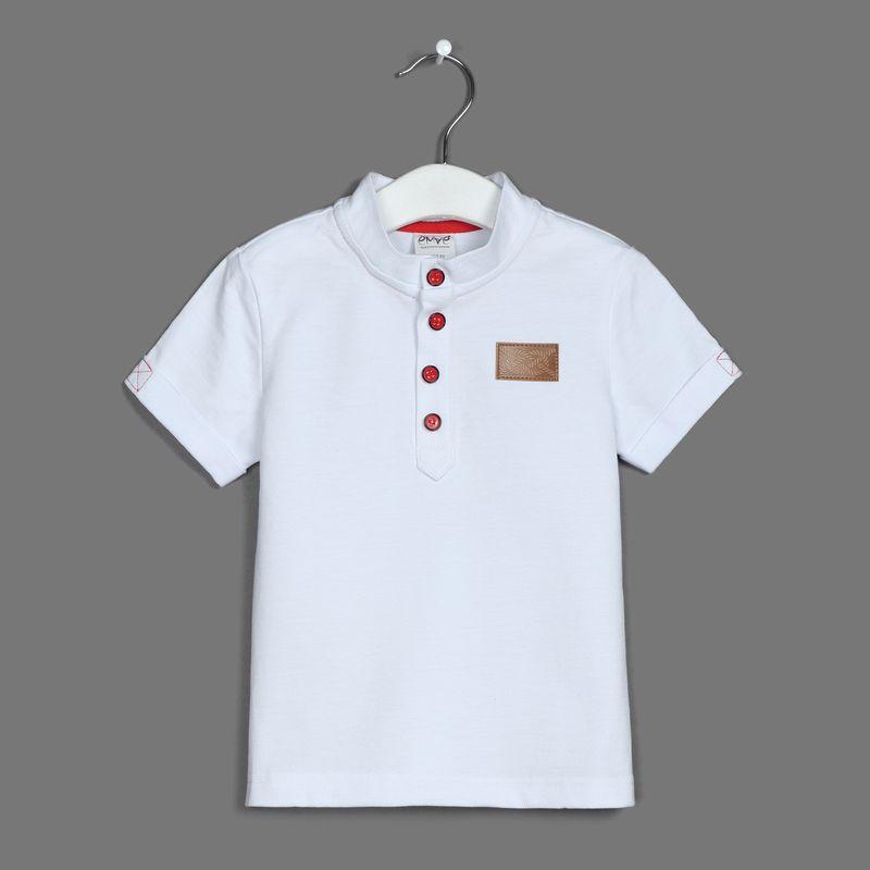 Поло для мальчика Ёмаё, цвет: белый. 27-704. Размер 10427-704Футболка-поло от Ёмаё из коллекции Парусная регата.