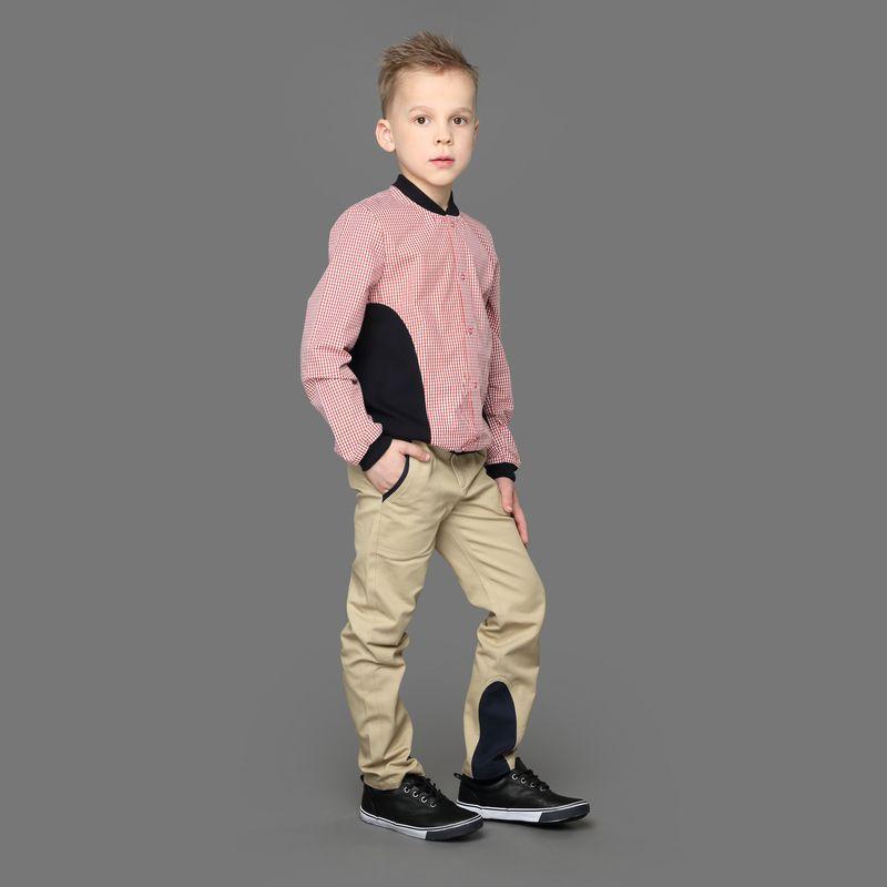 Рубашка для мальчика Ёмаё, цвет: красный. 40-906. Размер 9240-906Стильная хлопковая рубашка от Ёмаё с трикотажными вставками и длинным рукавом, имеет удобную застежку на кнопках. Классический вариант, модель выполнена в среднюю клетку. Подходит как для торжественных моментов, так и для повседневной носки. Низ сорочки и рукава дополнены манжетами, горловина с воротником-стойкой.