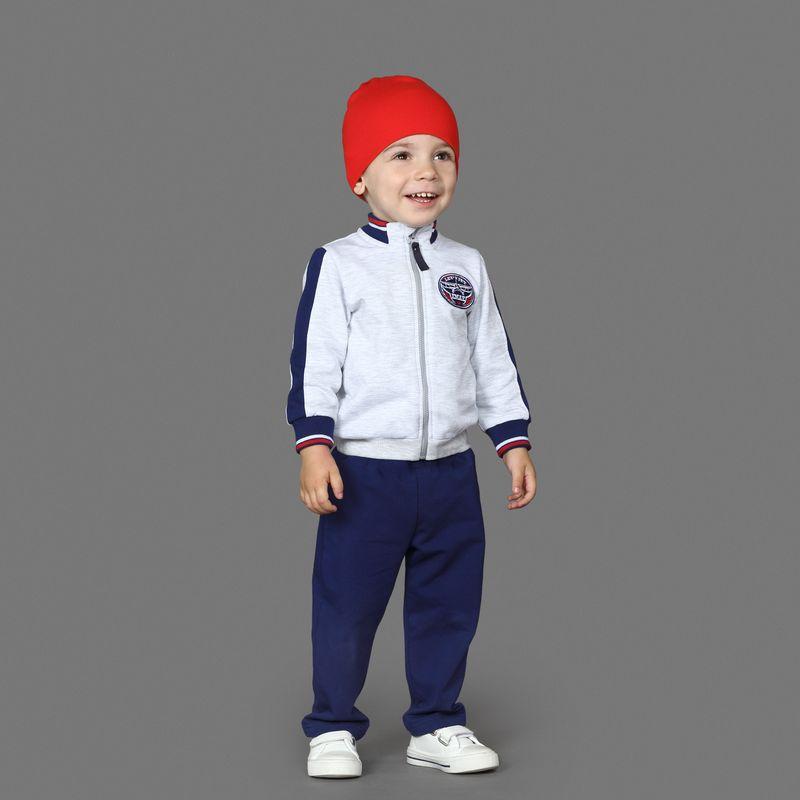Спортивный костюм для мальчика Ёмаё, цвет: серый, синий. 29-510. Размер 80