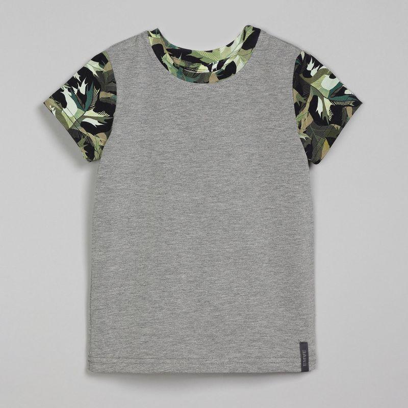 Футболка для мальчика Ёмаё, цвет: серый. 27-694. Размер 128 футболки и топы ёмаё футболка для мальчиков хип хоп 27 6126