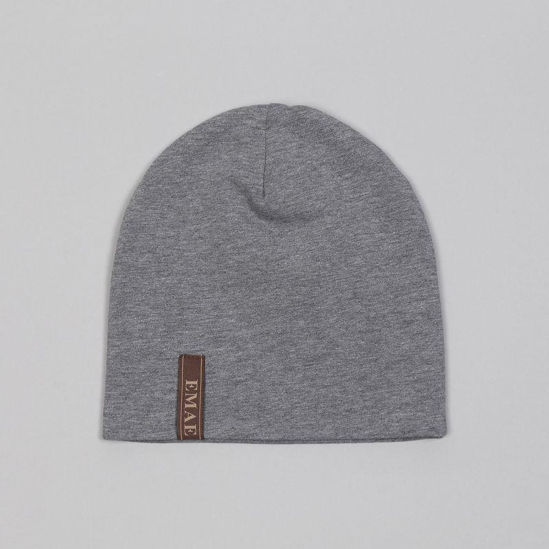 Шапка для мальчика Ёмаё, цвет: серый. 45-608. Размер 4045-608Удобная шапочка от Ёмаё выполнена из кулирной глади. Спереди нашит логотип Ёмаё Такая шапочка дополнит любой образ вашего модника.