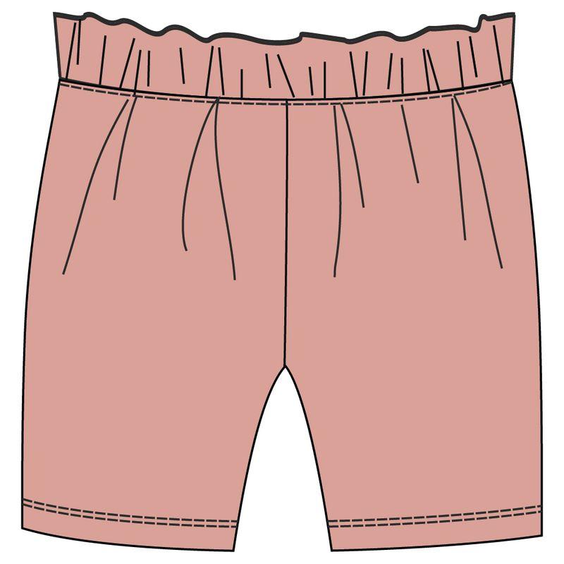 Шорты для девочки Ёмаё, цвет: розовый. 21-400. Размер 10421-400Шорты из футерной ткани с декоративными воланами вдоль пояса, с оборкой по переду изделия и резинкой по талии. Такие шорты обязательно должны быть в гардеробе Вашей маленькой модницы! Модель рассчитана на демисезонный период.