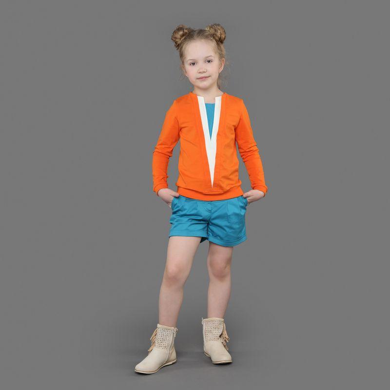 Шорты для девочки Ёмаё, цвет: синий. 46-901. Размер 10446-901Шорты из 100% хлопка с застежкой на пуговицы. Немного расклешены к низу и имеют подворот, выполнены из однотонной ткани. Дополнят образ с футболкой из этой же коллекции. Модель рассчитана на демисезонный период.