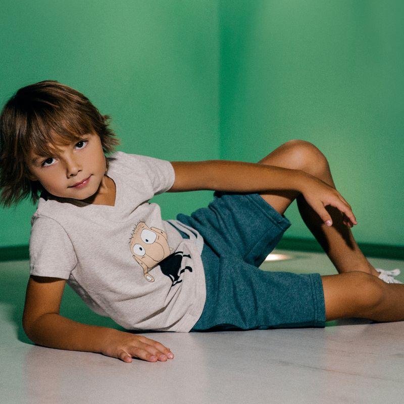 Шорты для мальчика Ёмаё, цвет: зеленый. 21-300. Размер 12821-300Шорты от Ёмаё из коллекции Городские сумасшедшие.
