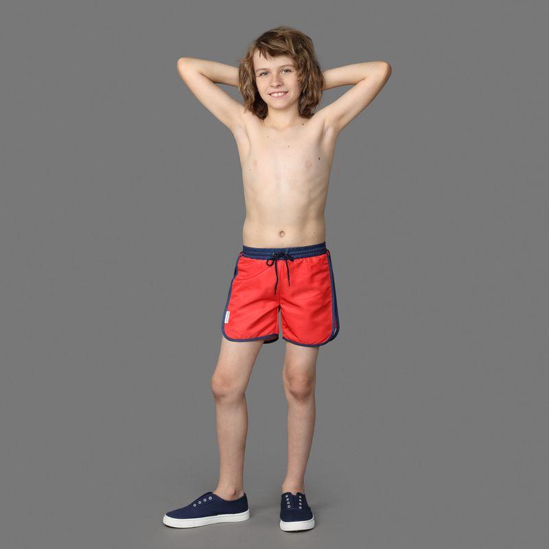 Шорты для мальчика Ёмаё, цвет: красный. 34-002. Размер 12834-002Шорты с резинкой и кулиской на талии, выполнены в однотонном цвете. Прекрасно сочетаются с футболками и майками из этой же коллекции. Модель рассчитана на летний период.