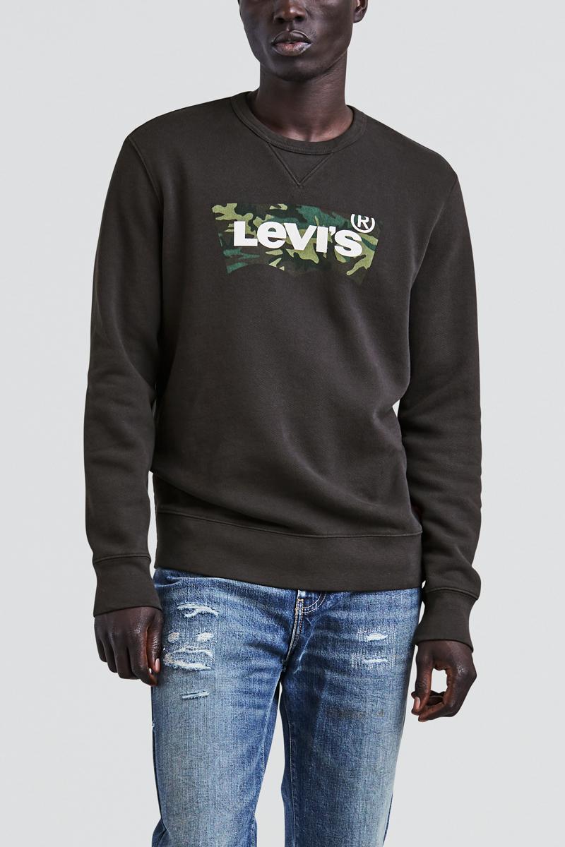Свитшот мужской Levi's®, цвет: черный. 1789500470. Размер XXL (54) свитшот мужской levi s® цвет темно синий красный 5260400000 размер xxl 54