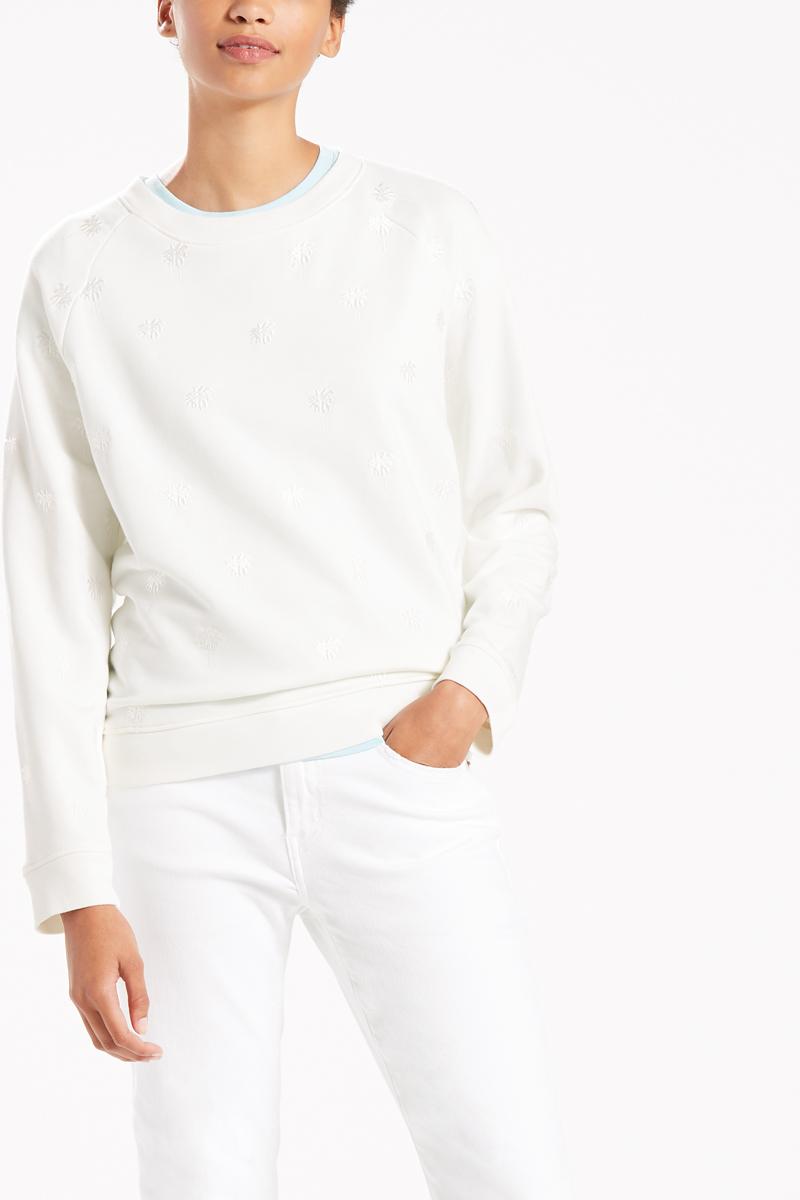 Купить Свитшот женский Levi's®, цвет: белый. 2959400140. Размер XS (42)
