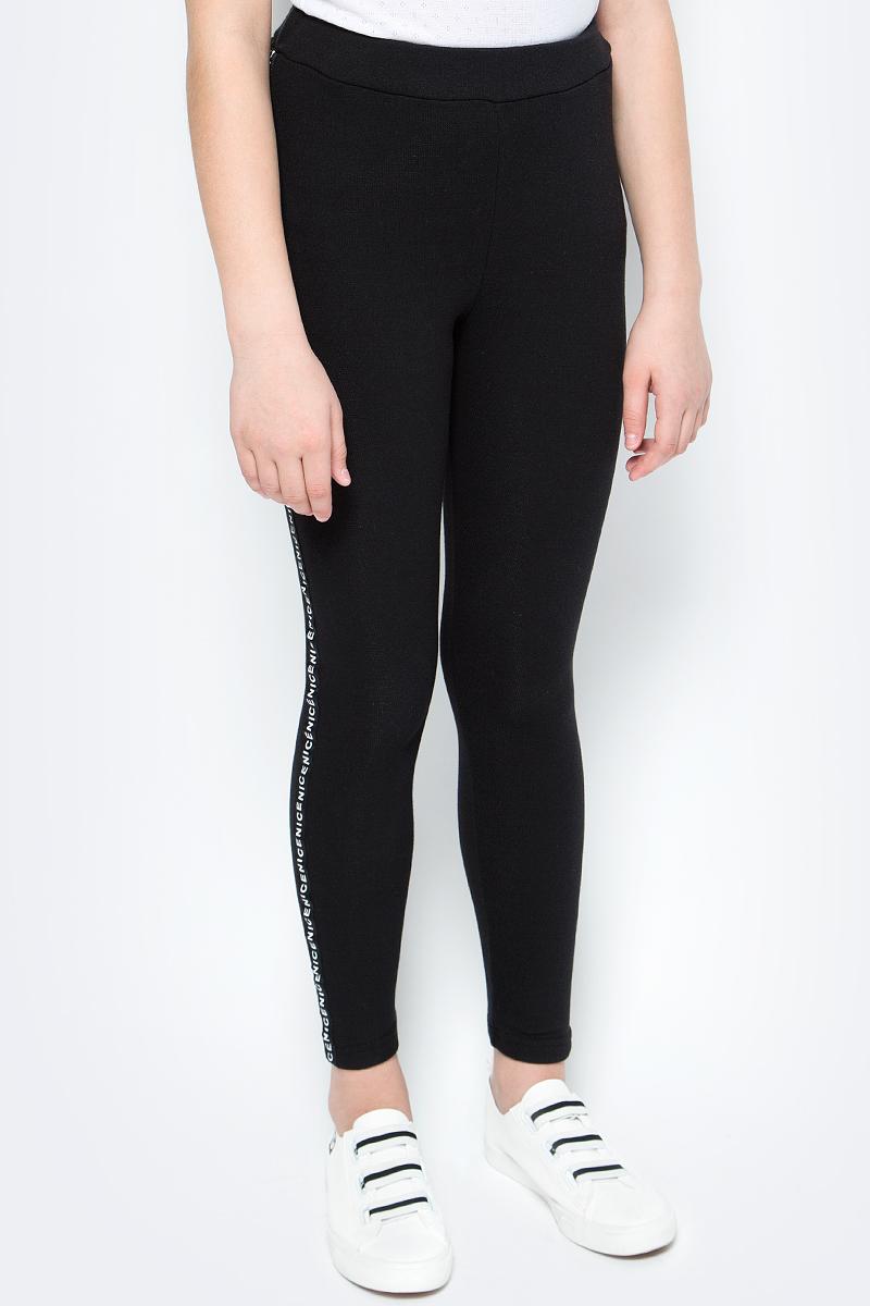 Леггинсы для девочек M&D, цвет: черный. WJL27040MS21_21. Размер 140 тефия халат из трикотажного полотна с начесом 100