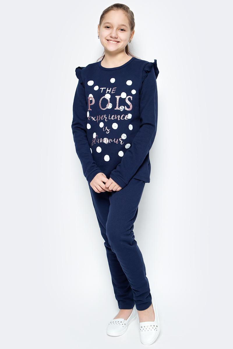 Пижама для девочки United Colors of Benetton, цвет: синий. 3J68Z11MN_13C. Размер 100 пижама для мальчика united colors of benetton цвет серый 3j68z11ls 501 размер 100
