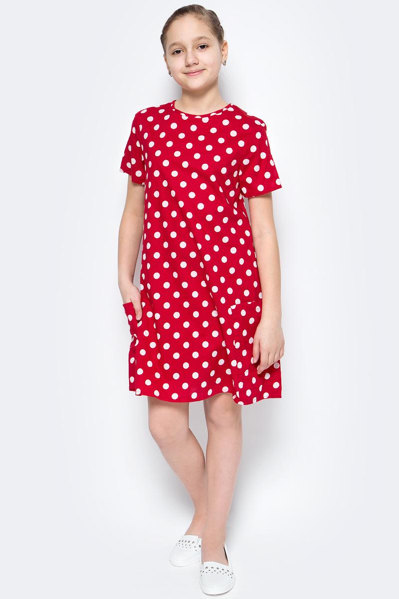 Платье для девочек United Colors of Benetton, цвет: красный. 4XB35V920_914. Размер 1004XB35V920_914