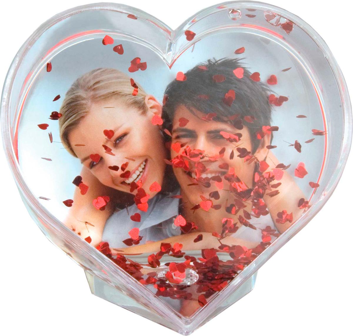 Фоторамка Innova Glitter Hearts photo globe, 9 х 7 смPL0360/9008