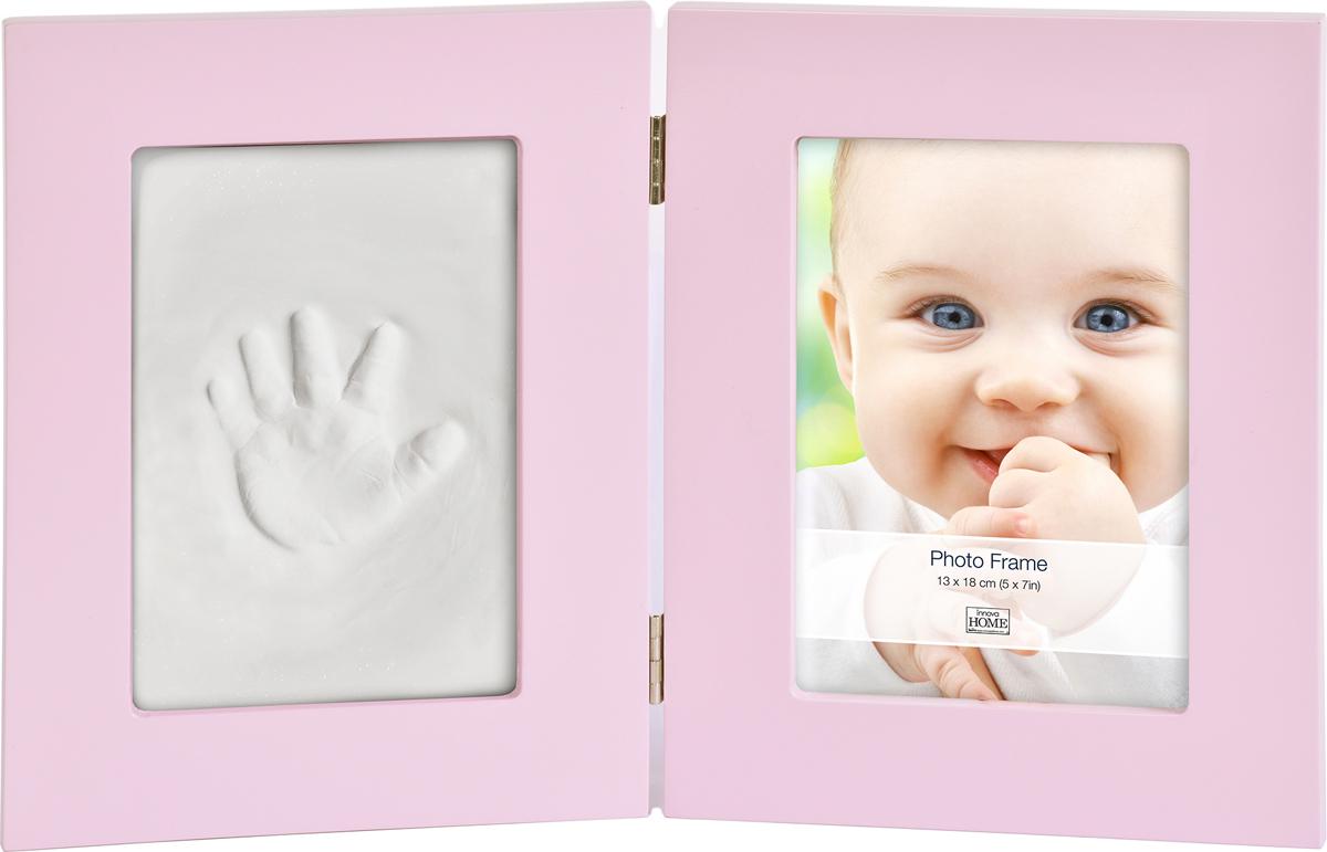 """Двойная рамка с набором для лепки """"Baby Keepsake""""  - это особый подход к созданию очаровательного подарка на память для этого особого периода жизни, с фотографией и отпечатком ручки или ножки вашего ребенка"""