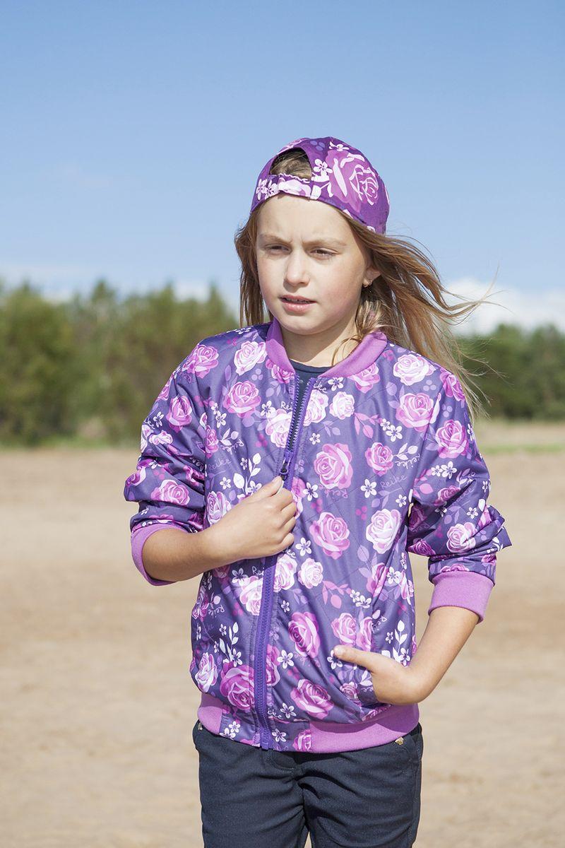 Куртка для девочки Reike, цвет: фиолетовый. 40 870 155_ROS(60) violet. Размер 152, 12 лет, Одежда для девочек  - купить со скидкой