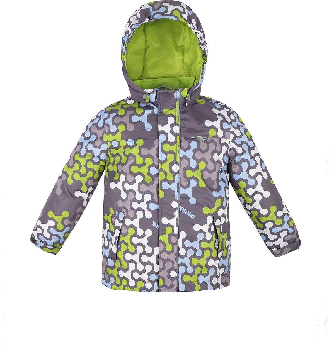 Куртка для мальчика Reike, цвет: серый. 40 895 115_SPN(60) grey. Размер 122, 7 лет40 895 115_SPN(60) greyКуртка для мальчика Reike Spinner выполнена из ветрозащитного, водоотталкивающего и дышащего мембранного материала, декорированного ярким молодежным принтом. Подкладка - полиэстер, на воротнике и ветрозащитной планке вставки из микрофлиса. Манжеты на резинке дополнительно регулируются с помощью липучек. Модель имеет съемный регулирующийся капюшон, три кармана на молнии и полоску светоотражателя спереди. Базовый уровень. Коэффициент воздухопроницаемости куртки 2000гр/м2/24 ч. Водоотталкивающее покрытие: 2000 мм. Утеплитель: Polyfill 60 гр.