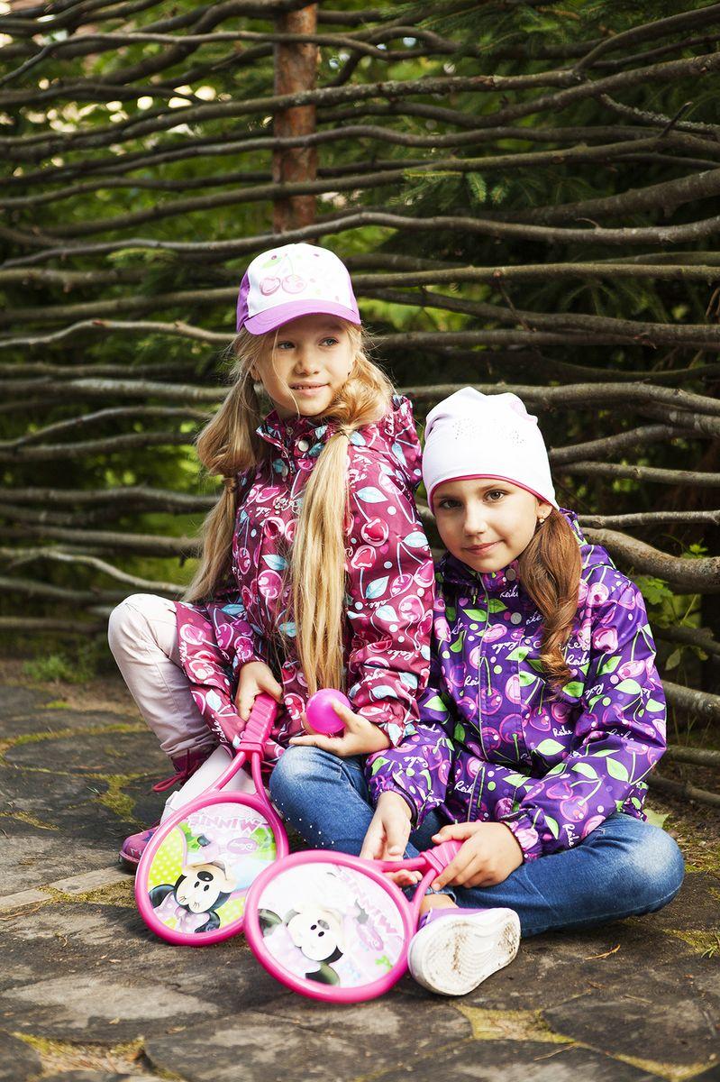 Куртка для девочки Reike, цвет: фиолетовый. 40 575 111_CHR(FL) violet. Размер 128, 8 лет, Одежда для девочек  - купить со скидкой