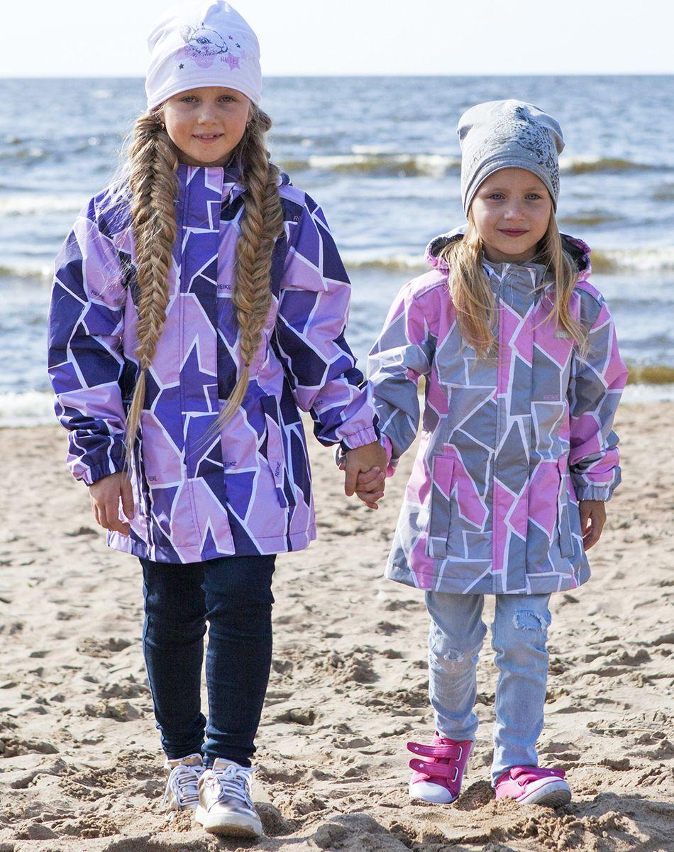 Куртка для девочки Reike, цвет: серый. 40 727 120_PZL(60) grey. Размер 110, 5 лет40 727 120_PZL(60) grey