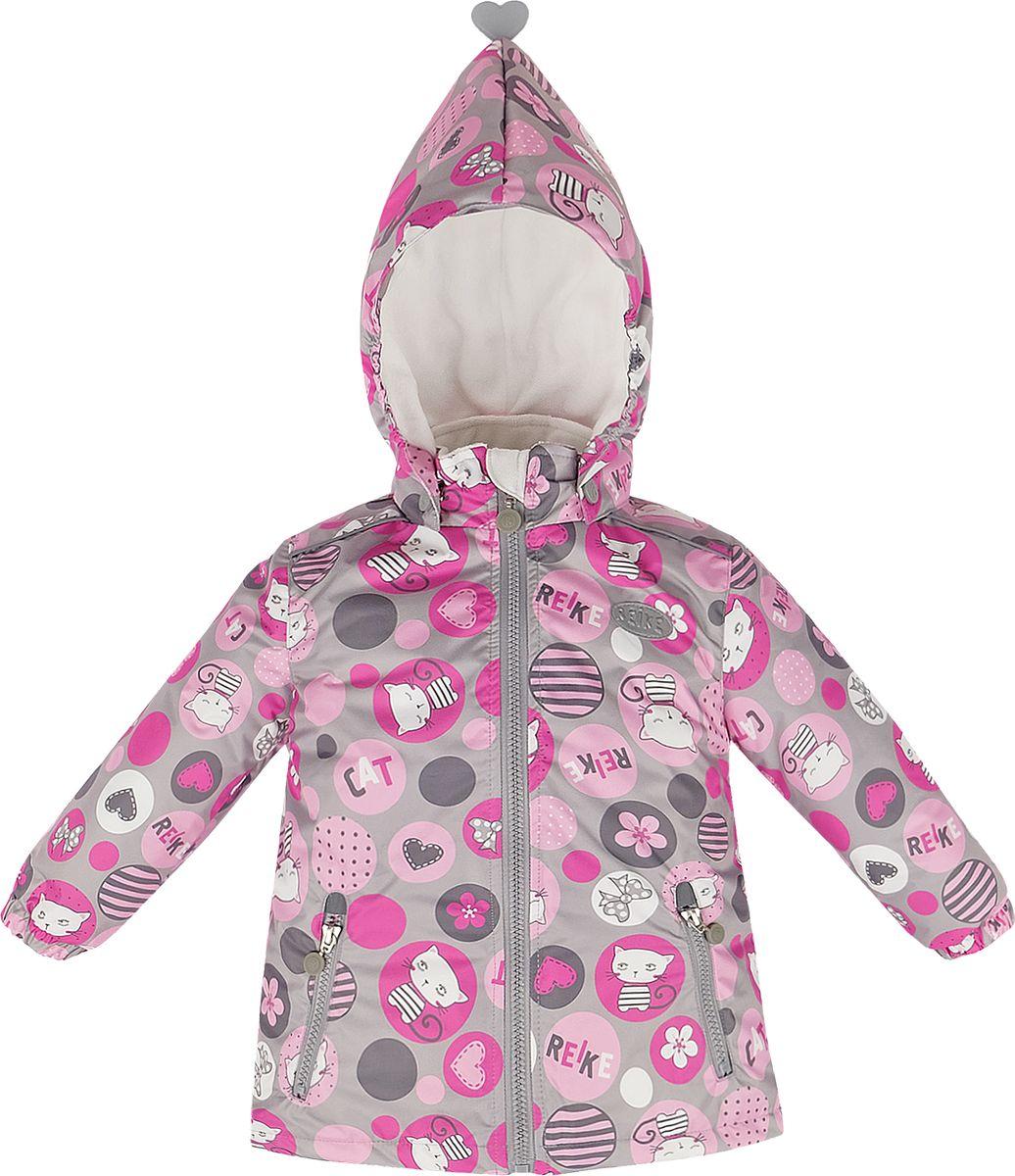 Куртка детская Reike, цвет: серый. 40 022 225_CATS(80) grey. Размер 98, 3 года40 022 225_CATS(80) grey