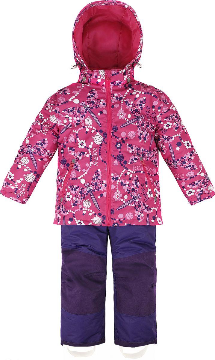 Комплект верхней одежды для девочки Reike, цвет: фуксия. 40 555 010_DGF(60) fuchsia. Размер 104, 4 года40 555 010_DGF(60) fuchsia