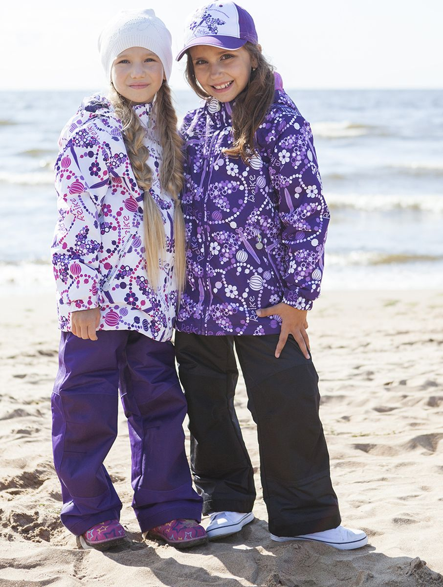 Комплект верхней одежды для девочки Reike, цвет: фиолетовый. 40 555 111_DGF(60) violet. Размер 104, 4 года, Одежда для девочек  - купить со скидкой