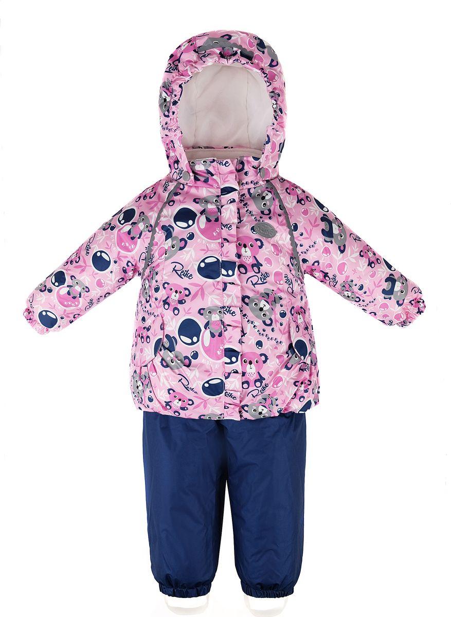 Комплект верхней одежды для девочки Reike, цвет: розовый. 40 686 005_KL(80) pink. Размер 86, 18 месяцев40 686 005_KL(80) pink