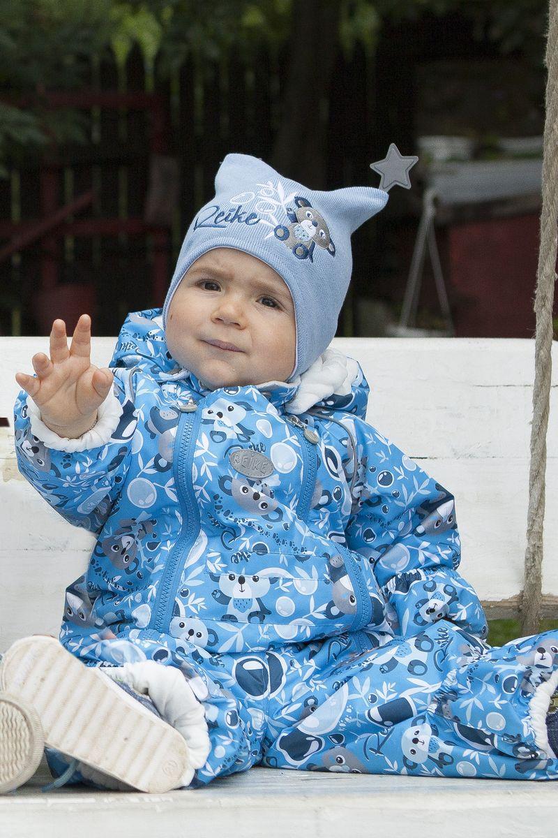 Комбинезон утепленный для мальчика Reike, цвет: синий. 40 155 008_KL(80) blue. Размер 62, 3 месяца40 155 008_KL(80) blue