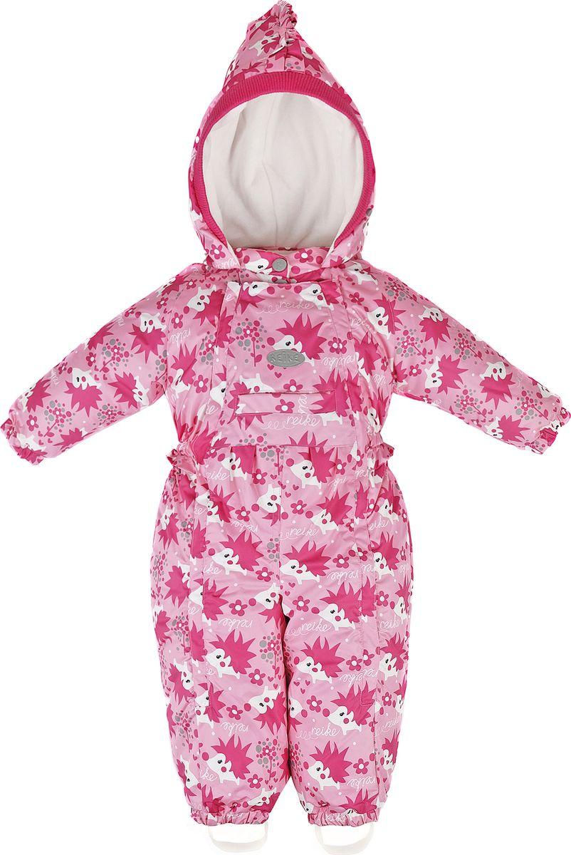 Комбинезон утепленный для девочки Reike, цвет: розовый. 40 685 111_HGH(80) pink. Размер 74, 9 месяцев40 685 111_HGH(80) pink