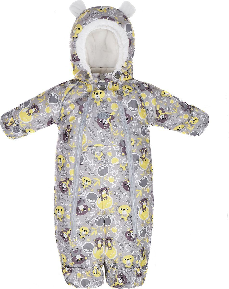 Комбинезон утепленный детский Reike, цвет: серый. 40 155 009_KL(80) grey. Размер 62, 3 месяца