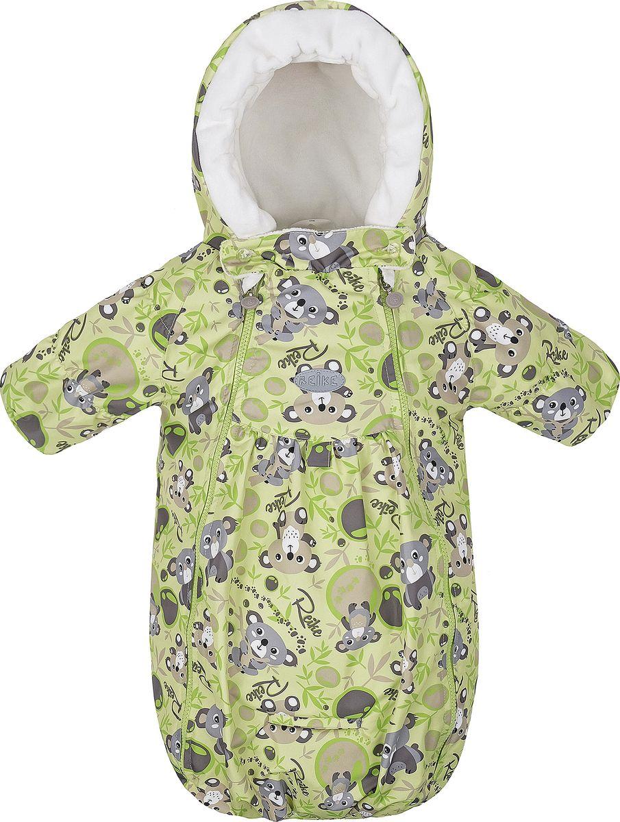 Конверт прогулочный детский Reike, цвет: светло-зеленый. 40 100 007_KL(80) lime. Размер 62, 3 месяца40 100 007_KL(80) lime