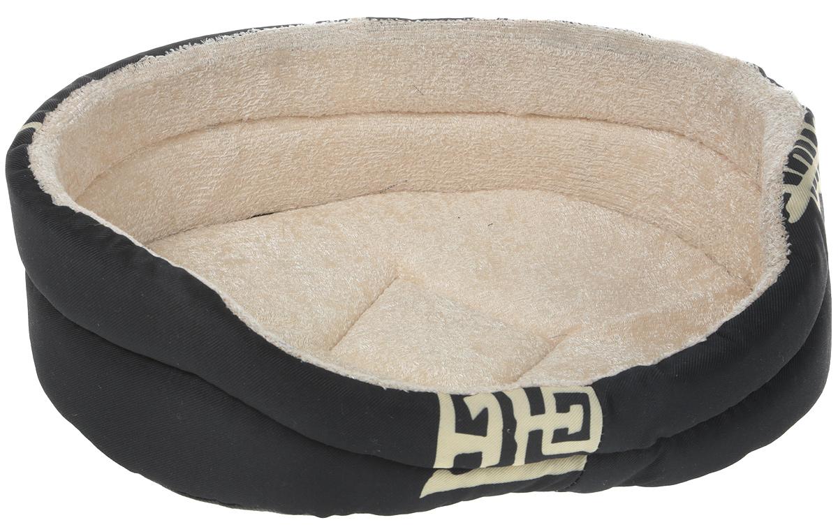 Лежак GLG Малютка, цвет: черный, 37 х 30 х 11 см ваза 16 х 11 х 30 см