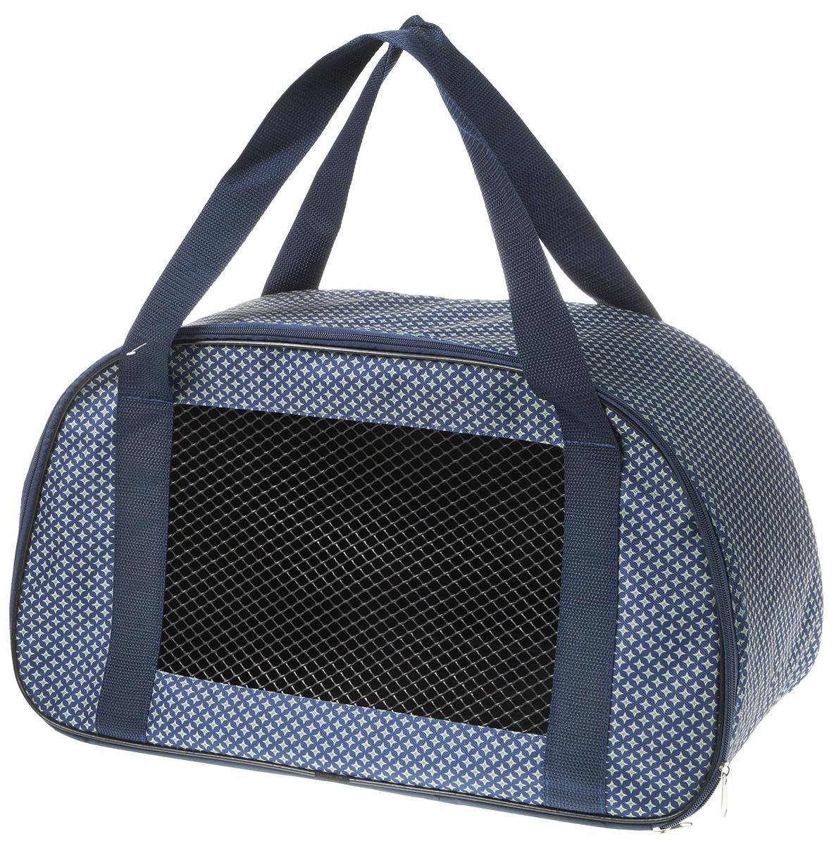 Сумка-переноска для животных Теремок, цвет: светло-синий, 56 х 28 х 30 см сумка переноска для животных теремок цвет голубой синий белый 44 х 19 х 20 см