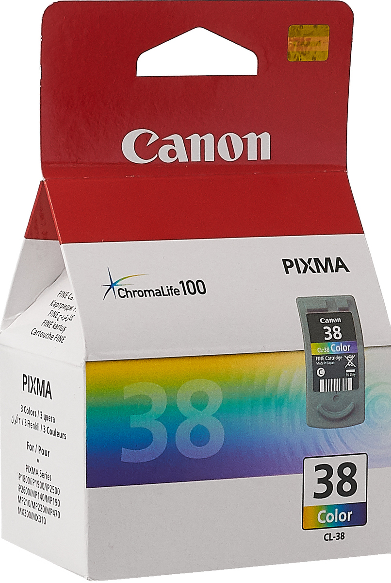Canon CL-38CMY цветной картридж для струйных МФУ/принтеров аккумуляторная батарея для canon canon lp e8
