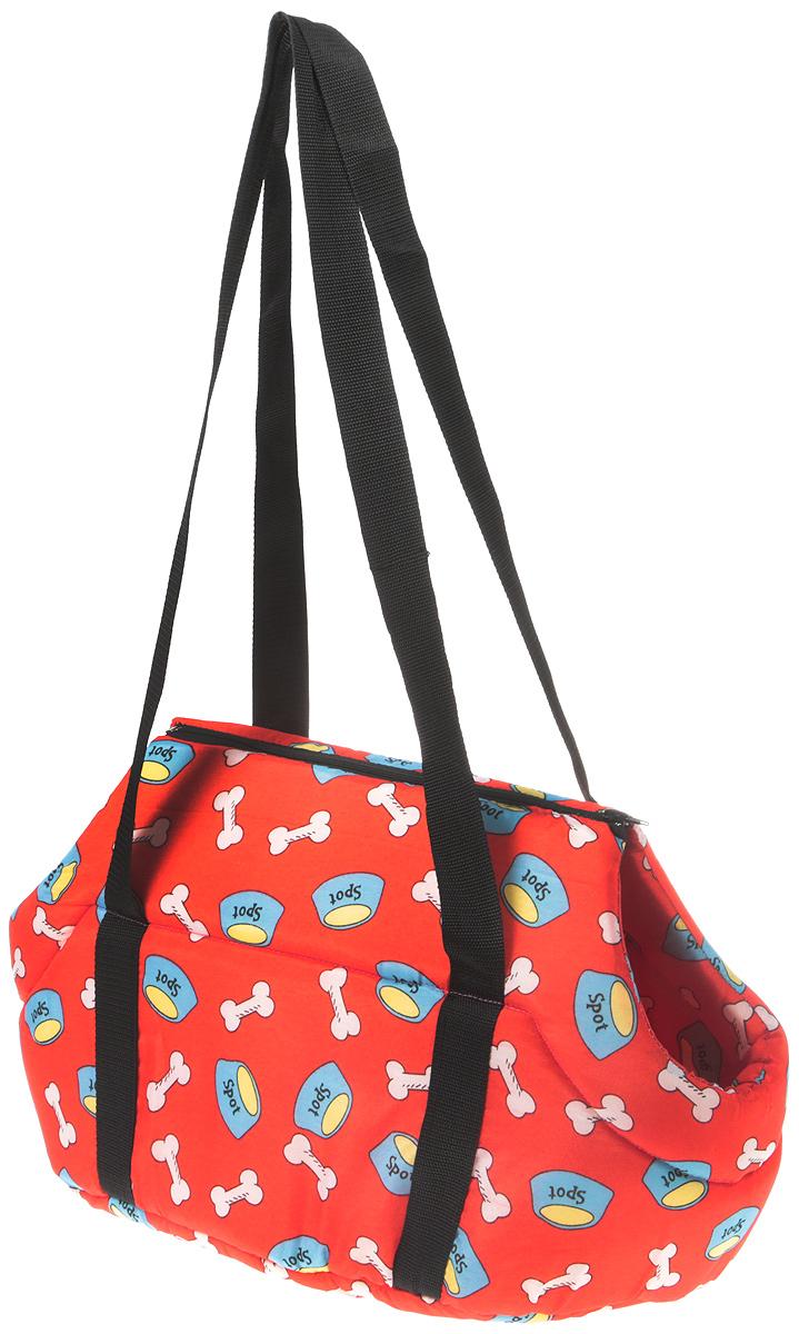 Сумка-переноска для животных №1 Фэшн, цвет: красный, 55 х 31 х 29 см сумка переноска для животных теремок цвет голубой синий белый 44 х 19 х 20 см