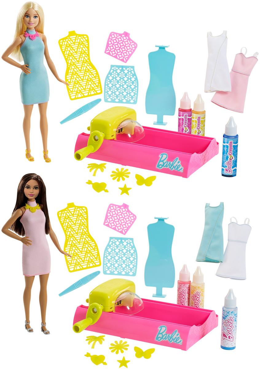Barbie Набор с куклой Для создания цветных нарядов