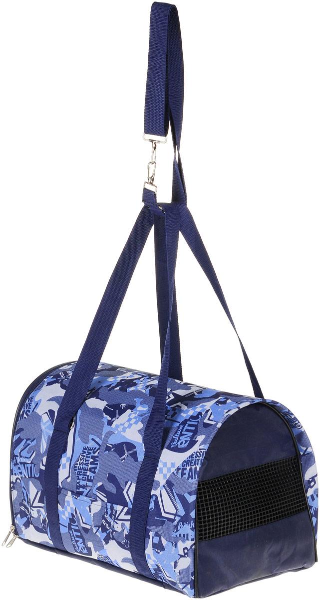 Сумка-переноска для животных Теремок, цвет: синий, голубой, белый, 40 х 23 х 23 см moschino трусы