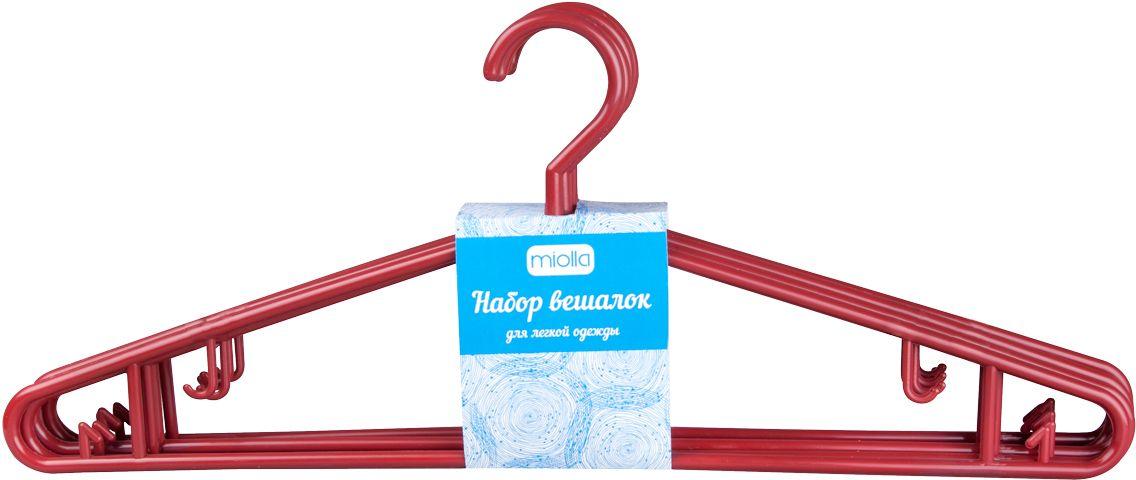 Набор вешалок для одежды Miolla, цвет: красный, 6 шт набор вешалок для одежды home queen цвет молочный 3 шт