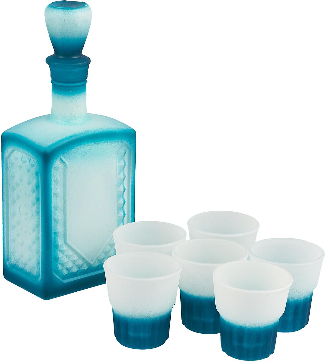 """Набор питьевой Декостек """"Мера"""", цвет: голубой, 7 предметов"""