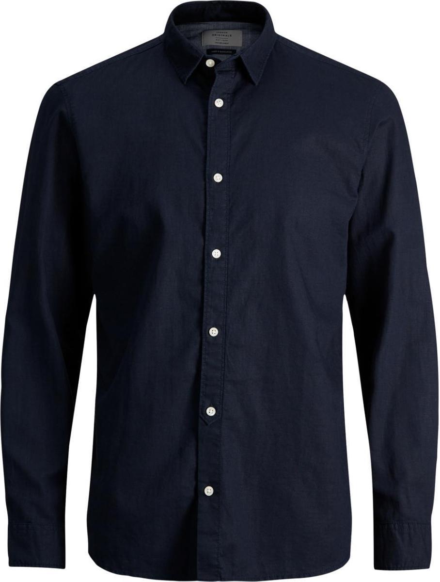 Рубашка мужская Jack & Jones, цвет: синий. 12129187. Размер L (50)12129187
