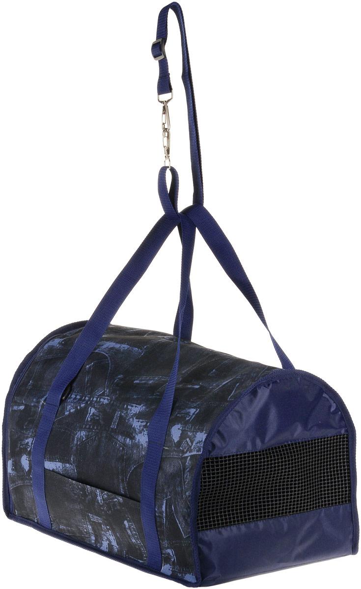 Сумка-переноска для животных Теремок, цвет: синий, джинс, 45 х 29 х 30 см ваза селадон династия мин 30 х 30 х 56 см