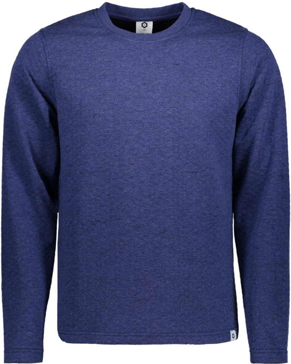 Джемпер мужской Jack & Jones, цвет: синий. 12131750. Размер L (50)12131750Джемпер от Jack & Jones выполнен из натурального хлопка. Модель с длинными рукавами и круглым вырезом горловины.