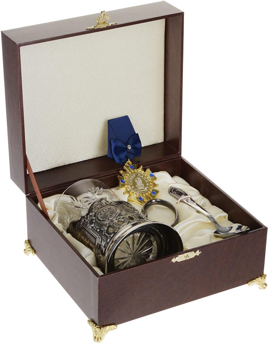 Набор подарочный Город Подарков Золотой папа, цвет: коричневый, 5 предметов50109008_коричневый