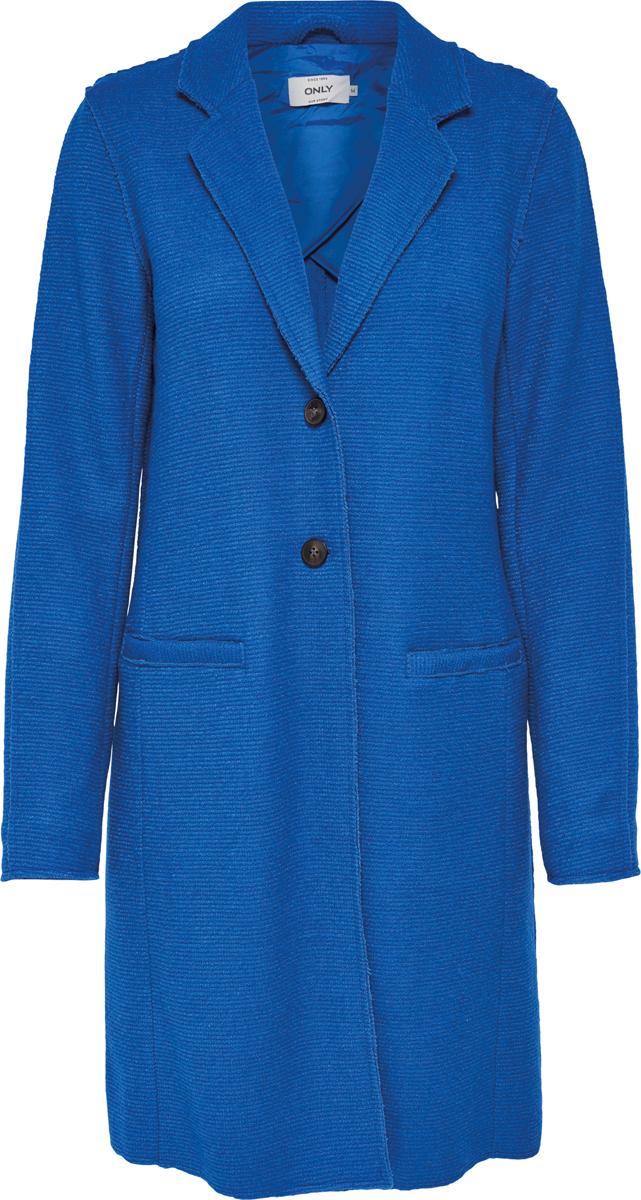 Купить Пальто женское Only, цвет: синий. 15149796. Размер S (42)