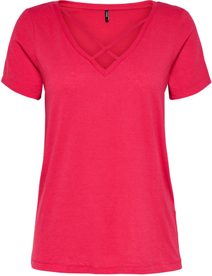 Футболка женская Only, цвет: бордовый. 15153569. Размер M (44)