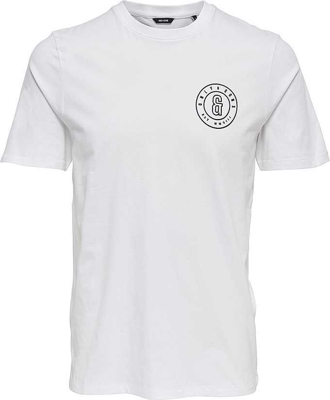 Купить Футболка мужская Only & Sons, цвет: белый. 22008485. Размер XXL (54)