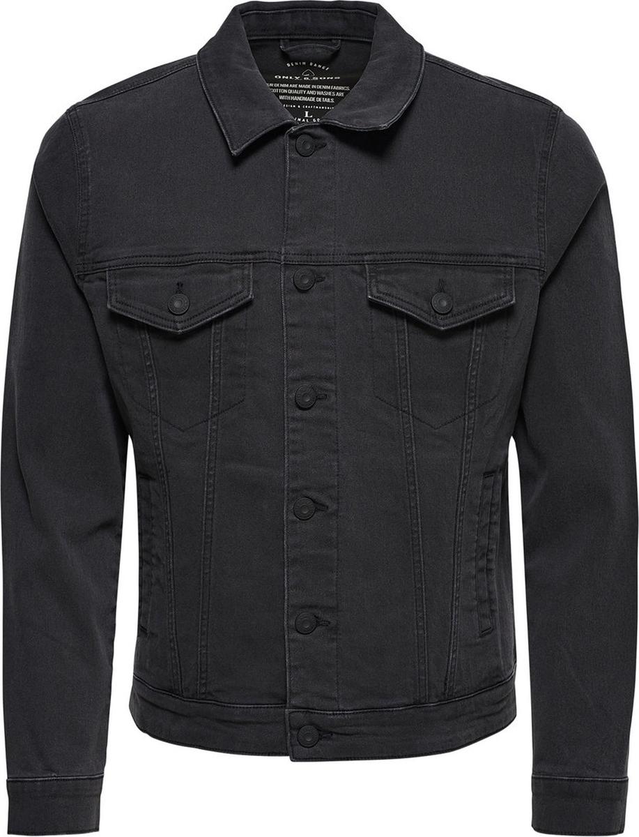 Купить Куртка мужская Only & Sons, цвет: черный. 22008610. Размер M (48)