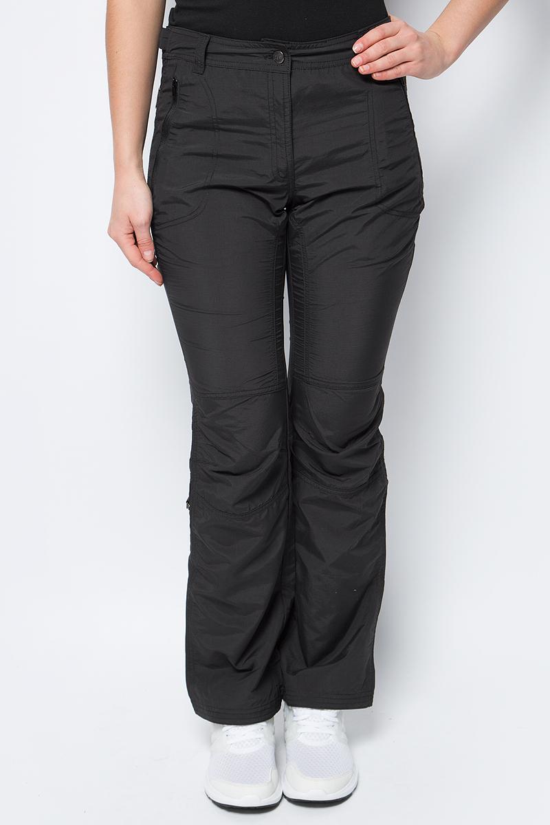 Брюки женские Icepeak, цвет: черный. 754055574IV. Размер 38 (44) брюки утепленные женские icepeak цвет темно синий 854020542iv 390 размер 34 40